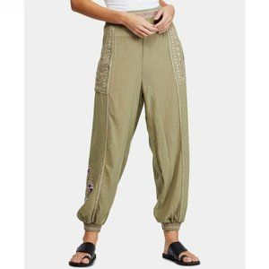 Free People L Sage Embroider Jogger Pants NWT CT37